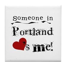 Portland Loves Me Tile Coaster
