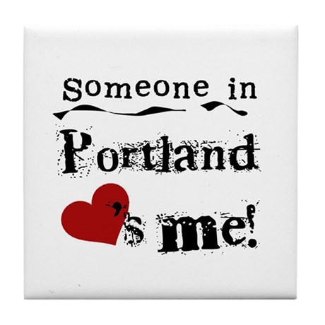Portland Loves Me Tile Coaster
