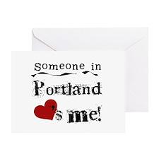 Portland Loves Me Greeting Card