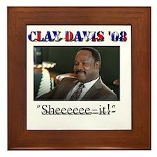 Clay Davis '08 Framed Tile