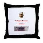 The Joy of Lard Throw Pillow