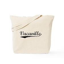 Vintage Vacaville (Black) Tote Bag