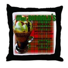 MAC DINNALD'S Throw Pillow