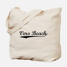 Vintage Vero Beach (Black) Tote Bag