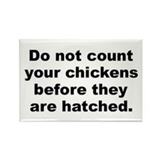 Do not count your chickens before they are hatched Rectangle Magnet