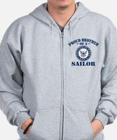 Proud Brother Of A US Navy Sailor Zip Hoodie