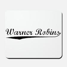 Vintage Warner Rob.. (Black) Mousepad