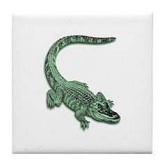 Florida Alligator Tile Coaster