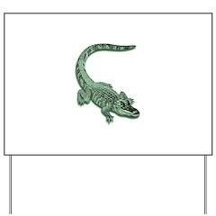 Florida Alligator Yard Sign