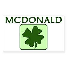 MCDONALD Family (Irish) Rectangle Decal