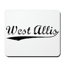 Vintage West Allis (Black) Mousepad
