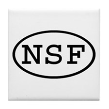 NSF Oval Tile Coaster