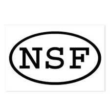 NSF Oval Postcards (Package of 8)