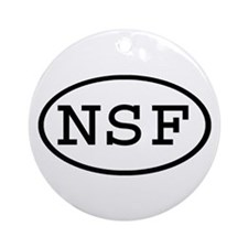 NSF Oval Ornament (Round)
