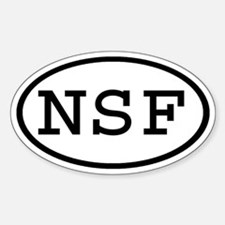 NSF Oval Oval Decal