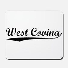 Vintage West Covina (Black) Mousepad