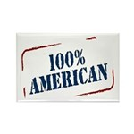 All American Rectangle Magnet (100 pack)