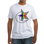 Rainbow Shooting Star Fitted T-Shirt