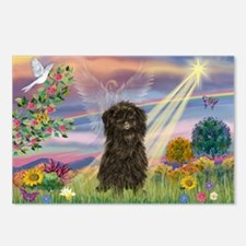 Cloud Angel & Affenpinscher Postcards (Package of
