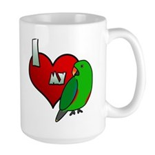Love Red-Sided Eclectus Mug