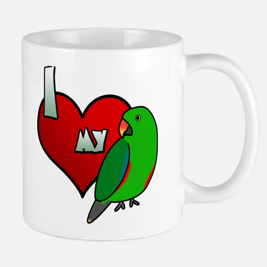 I Love My Red-Sided Eclectus Mug (Male)