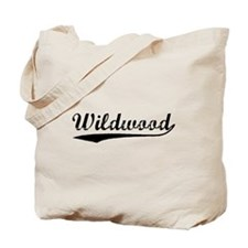 Vintage Wildwood (Black) Tote Bag