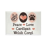Peace Love Cardigan Welsh Corgi Magnet 10 Pk
