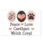 Peace Love Cardigan Welsh Corgi Postcards 8 Pack