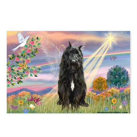 Cloud Angel & Bouvier Postcards (Package of 8)