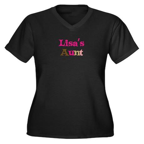 Lisa's Aunt Women's Plus Size V-Neck Dark T-Shirt