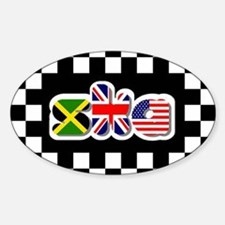 Flags of Ska Oval Decal