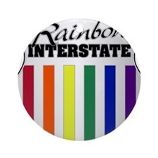 Rainbow Interstate Ornament (Round)