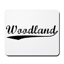 Vintage Woodland (Black) Mousepad