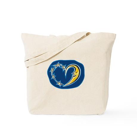 MOON & STAR HEART Tote Bag