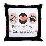 Peace Love Canaan Dog Throw Pillow