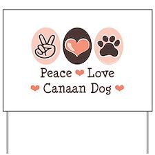 Peace Love Canaan Dog Yard Sign
