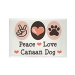 Peace Love Canaan Dog Rectangle Magnet (100 pack)