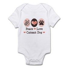 Peace Love Canaan Dog Infant Bodysuit