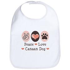 Peace Love Canaan Dog Bib