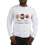 Peace Love Canaan Dog Long Sleeve T-Shirt