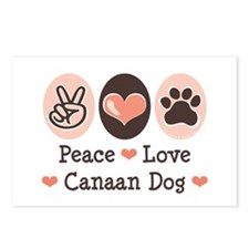 Peace Love Canaan Dog Postcards (Package of 8)