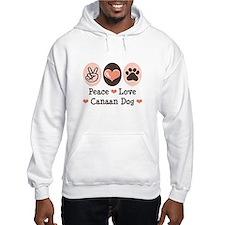 Peace Love Canaan Dog Hoodie