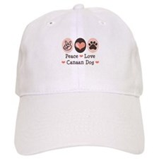 Peace Love Canaan Dog Baseball Cap