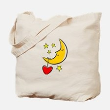 MOON, STARS & A HEART Tote Bag