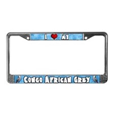 Crtn Love Congo African Grey License Plate Frame