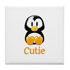 Cute Baby penguin Tile Coaster