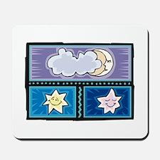 MOON & A COUPLE STARS Mousepad