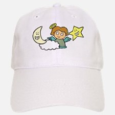 ANGEL w MOON & STAR Baseball Baseball Cap