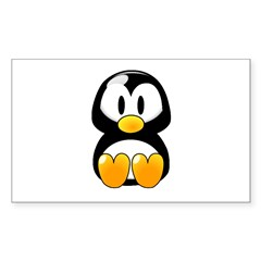 Baby Penguin Rectangle Decal