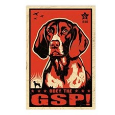 Obey the GSP! Dog Postcards (Package of 8)